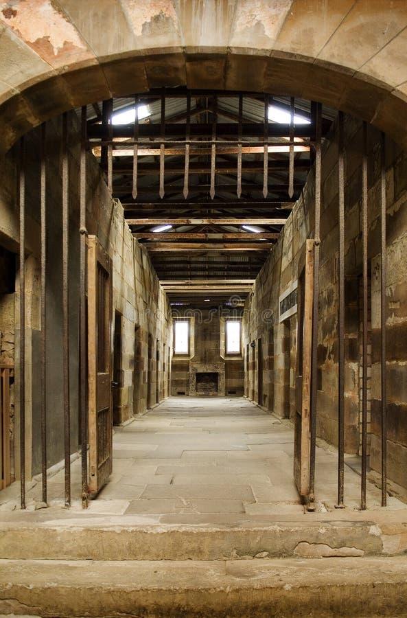 Port Arthur delle cellule di prigione immagine stock