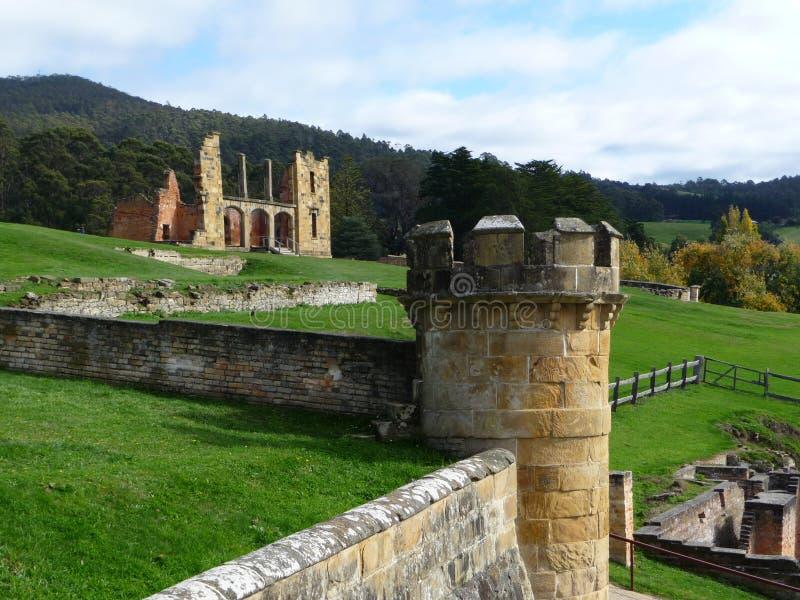 Port Arthur-Gefängnis Tasmanien lizenzfreies stockfoto