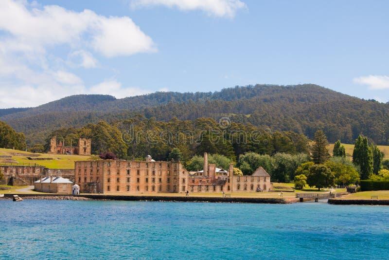 Port Arthur, historisches Gefängnis in Tasmanien lizenzfreie stockfotos