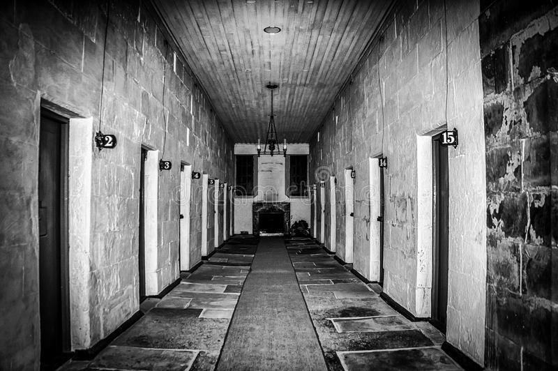 Port Arthur Penal Colony Prison Interior i Tasmanien, Australien royaltyfria foton