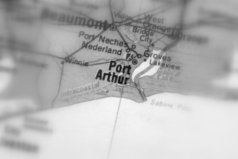 Port Arthur, una città in U S fotografia stock libera da diritti