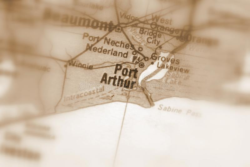 Port Arthur, una città in U S fotografia stock