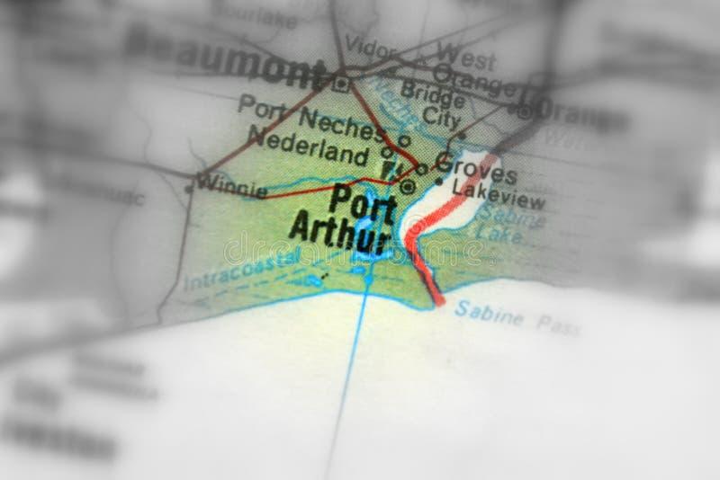 Port Arthur, una città in U S immagini stock