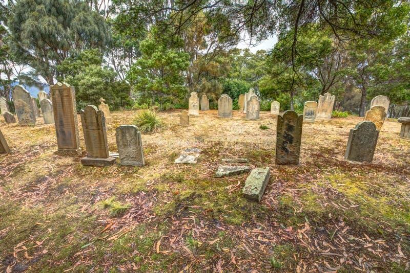 Port Arthurkyrkogård royaltyfri fotografi