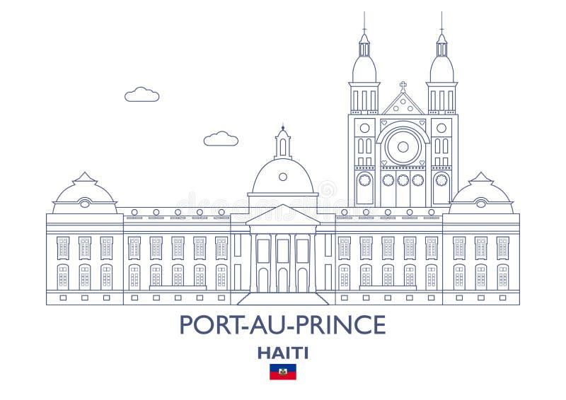 Port-au-Prince miasta linia horyzontu, Haiti ilustracji