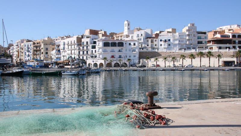 Port av Ametlla de Fördärva, Spanien arkivfoton