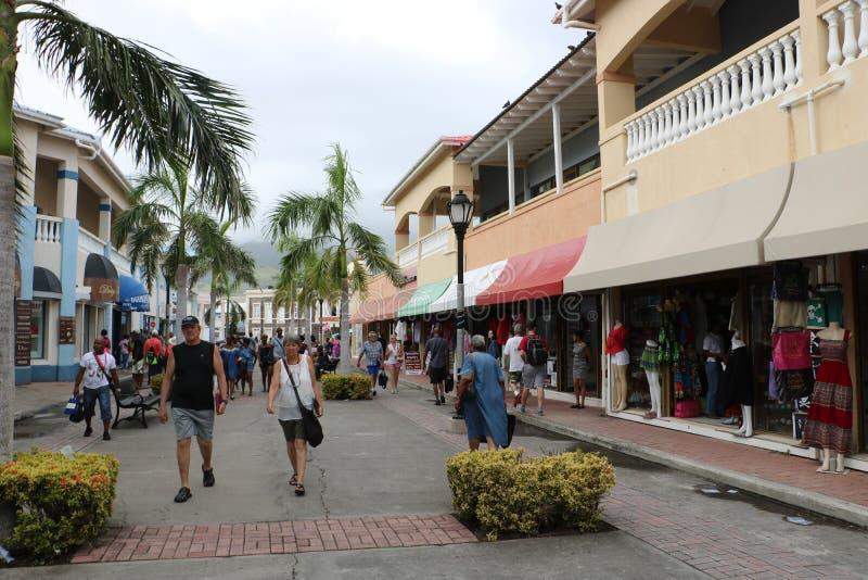 Port av Basseterre, St Kitts och Nevis arkivfoto