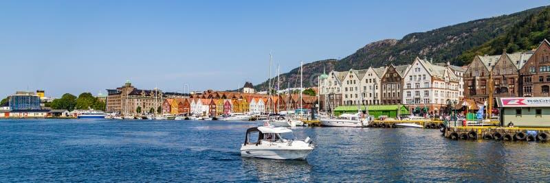 Port av Bergen i Norge royaltyfri fotografi