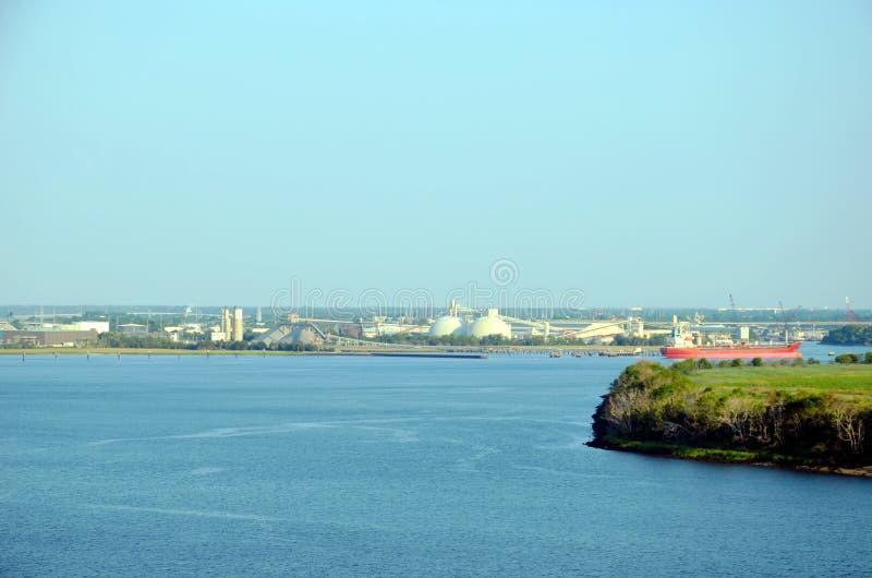 Port av charlestonen, South Carolina arkivbild
