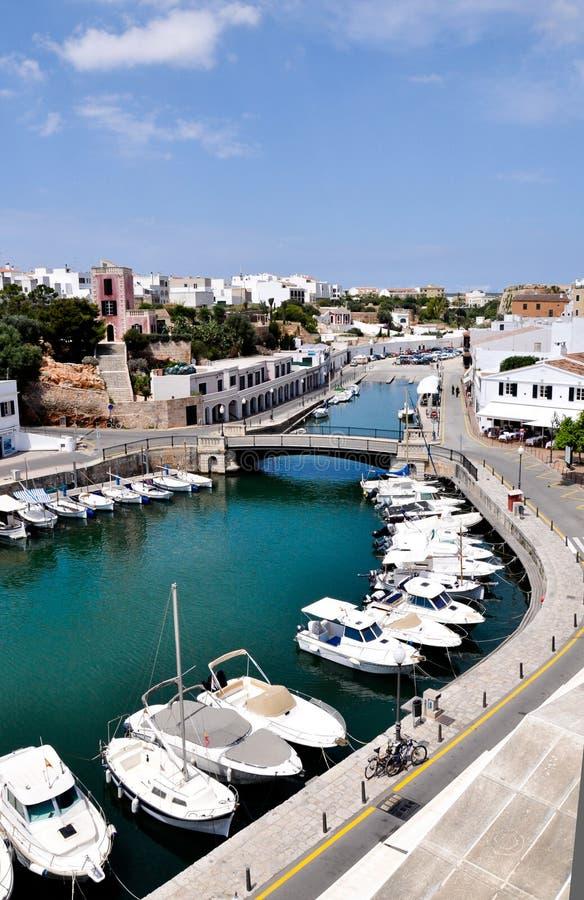Port av Ciutadella, Minorca royaltyfri fotografi