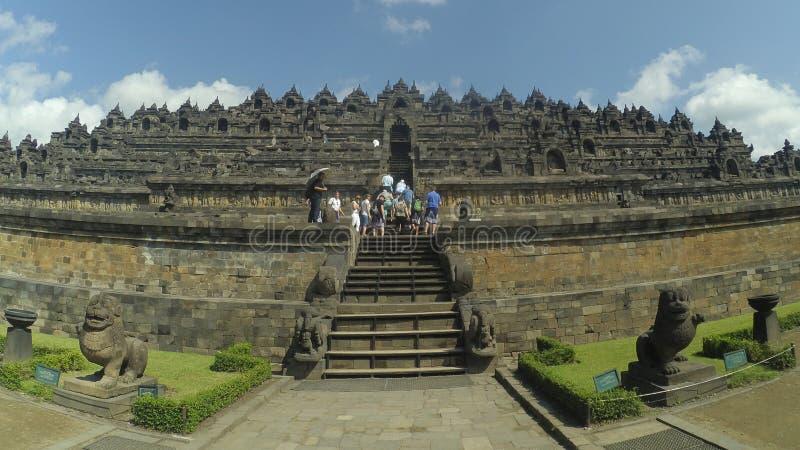 Port av den Borobudur templet i Magelang, centrala Java, Indonesien fotografering för bildbyråer