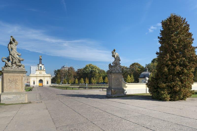 Port av den Branicki slotten i Bialystok, Polen arkivfoto