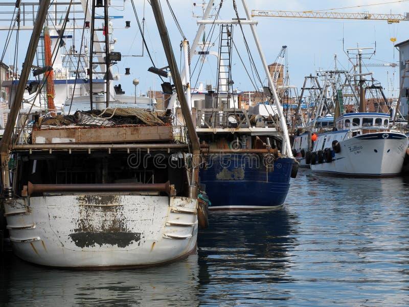 Port av den Chioggia staden i Italien royaltyfri foto