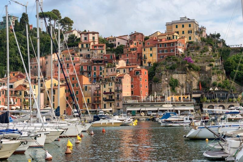 Port av den Lerici staden - La Spezia - Italien arkivfoton