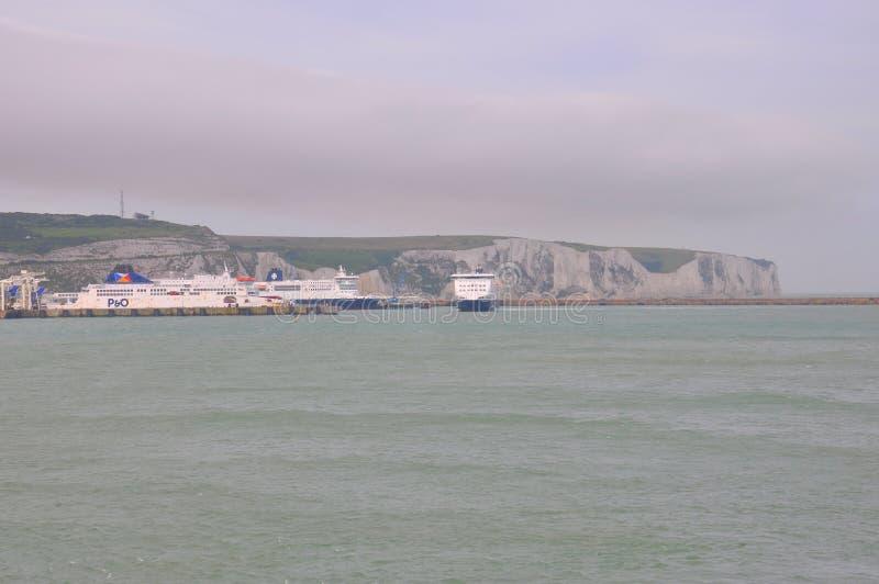 Port av Dover, Förenade kungariket royaltyfri fotografi