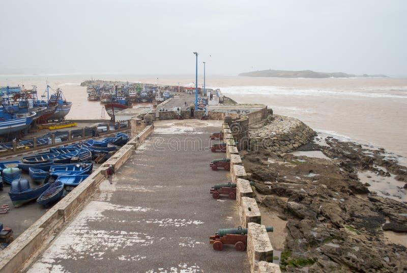 Port av Essaouira, Marocko arkivbilder