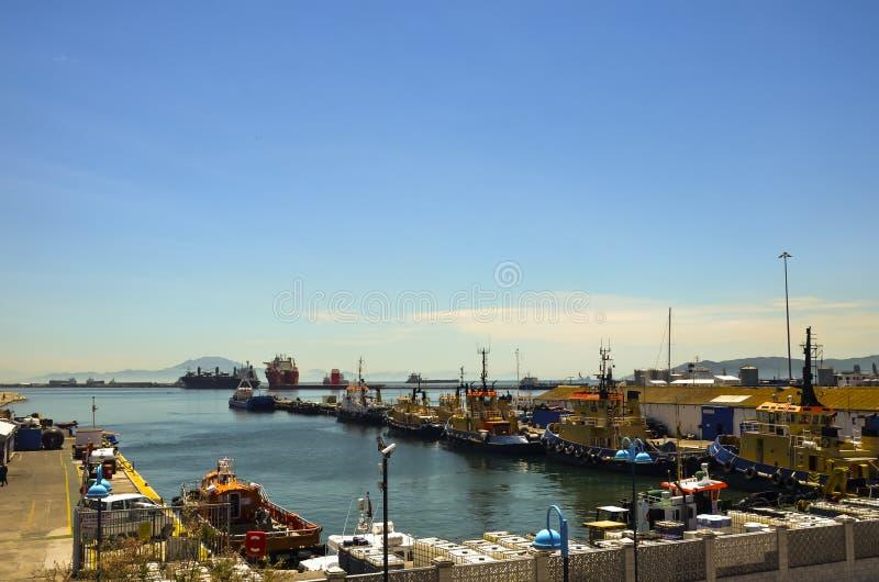 Port av Gibraltar royaltyfri fotografi