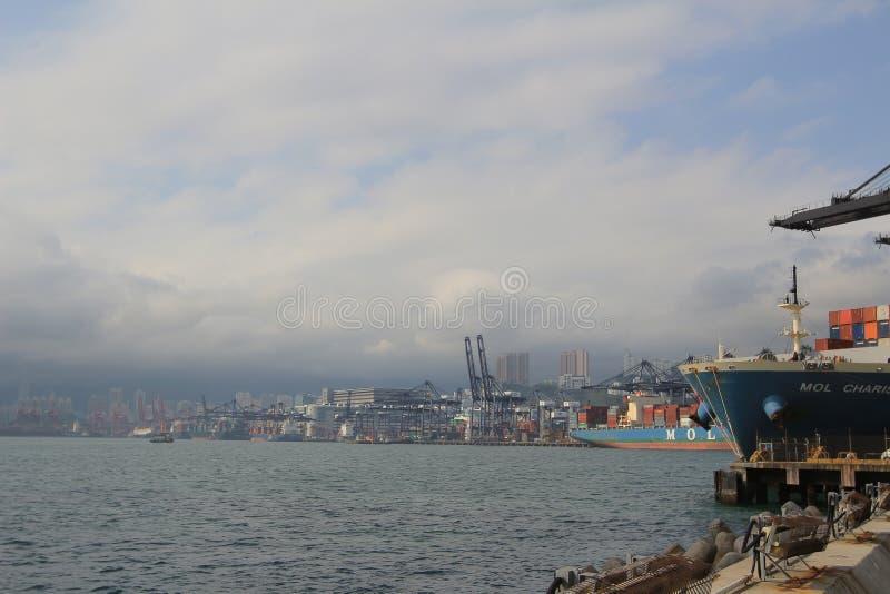 Port av Hong Kong royaltyfria foton