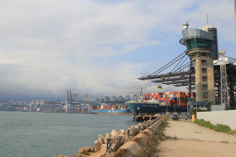 Port av Hong Kong arkivfoto