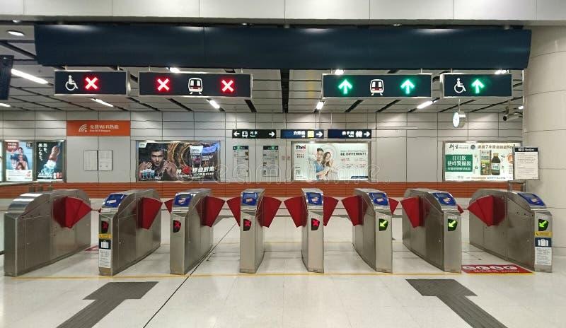 Port av järnvägsstationen i Hong Kong royaltyfri fotografi