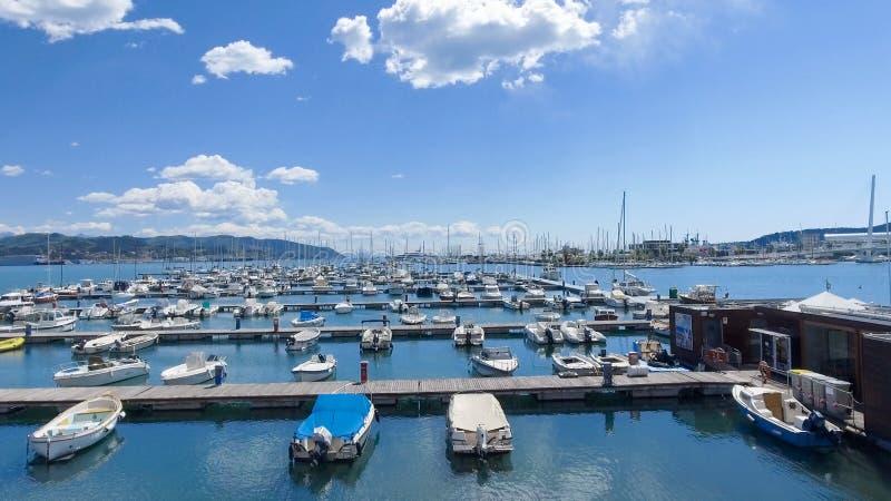 Port av La Spezia, Italien arkivbild