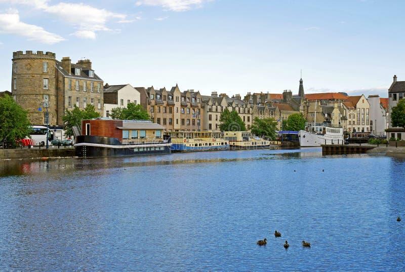 Port av Leith, Edinburg, SKOTTLAND fotografering för bildbyråer