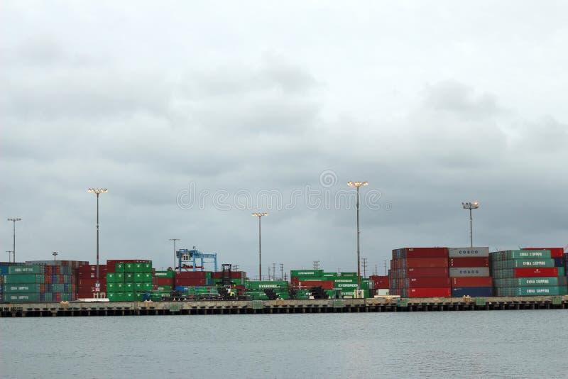 Port av Los Angeles behållare arkivfoto