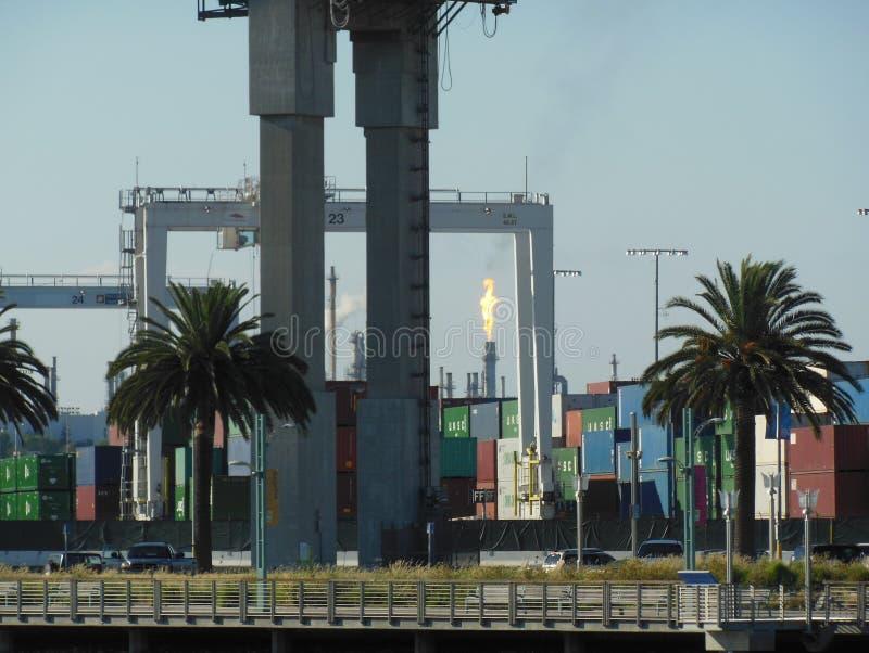 Port av Los Angeles i sydliga Kalifornien arkivbild