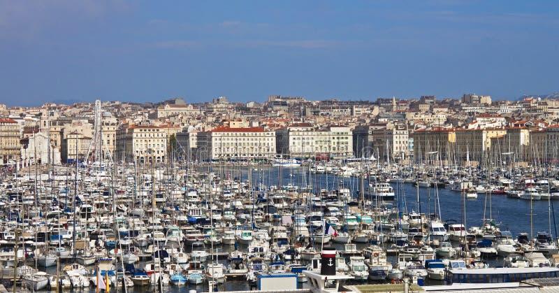 Port av Marseille, Frankrike arkivfoto