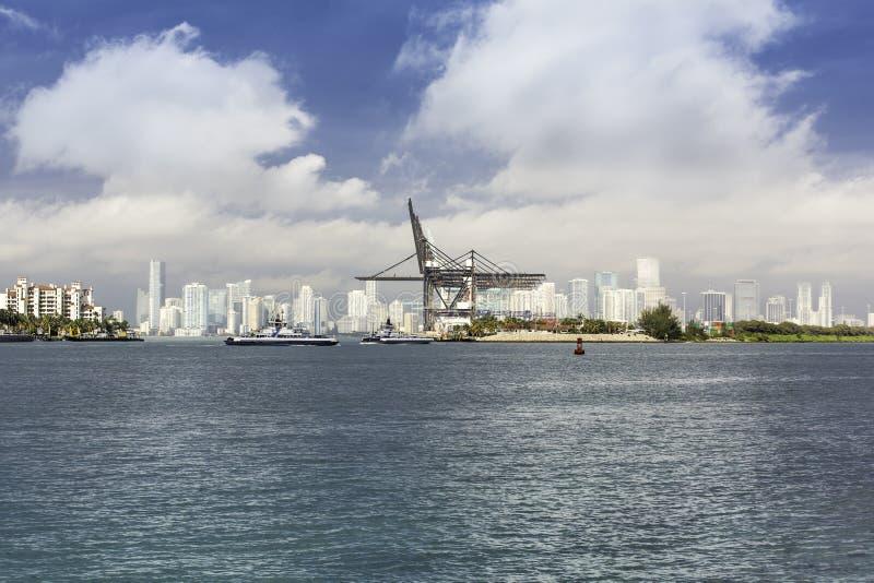 Miami horisont, södra Florida royaltyfri foto