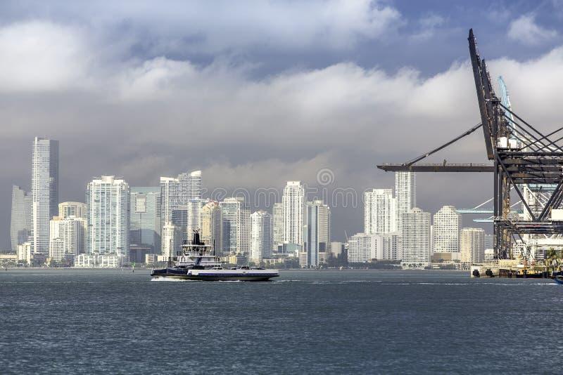 Miami horisont, södra Florida arkivbild