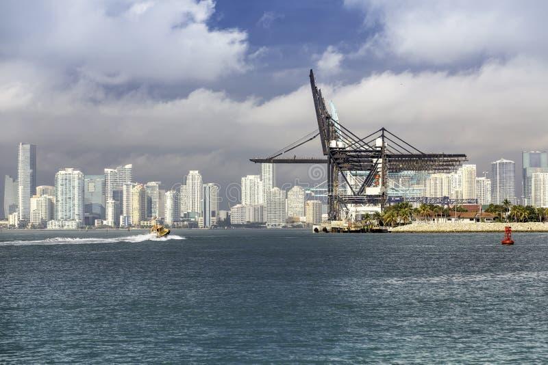 Miami horisont, södra Florida royaltyfria foton
