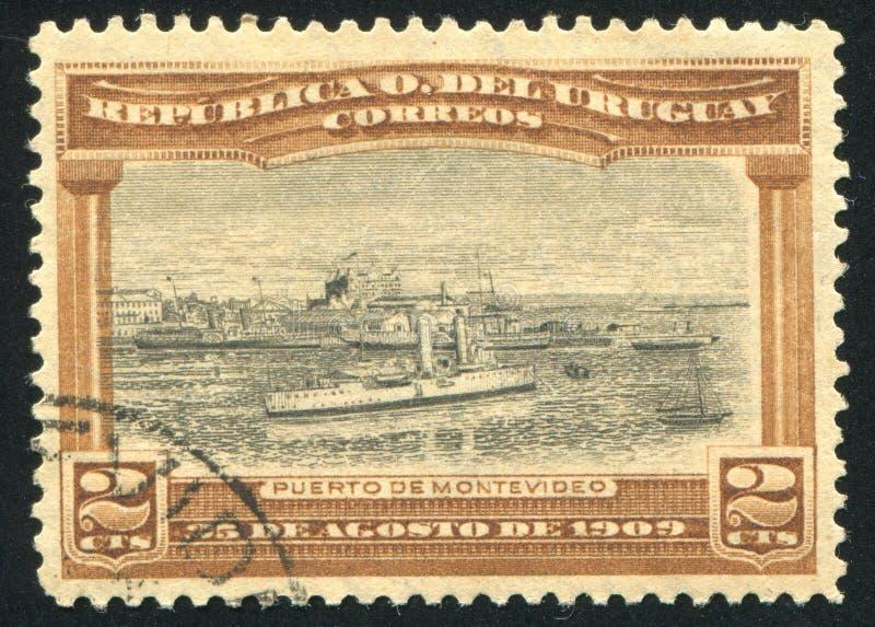 Port av Montevideo royaltyfri bild