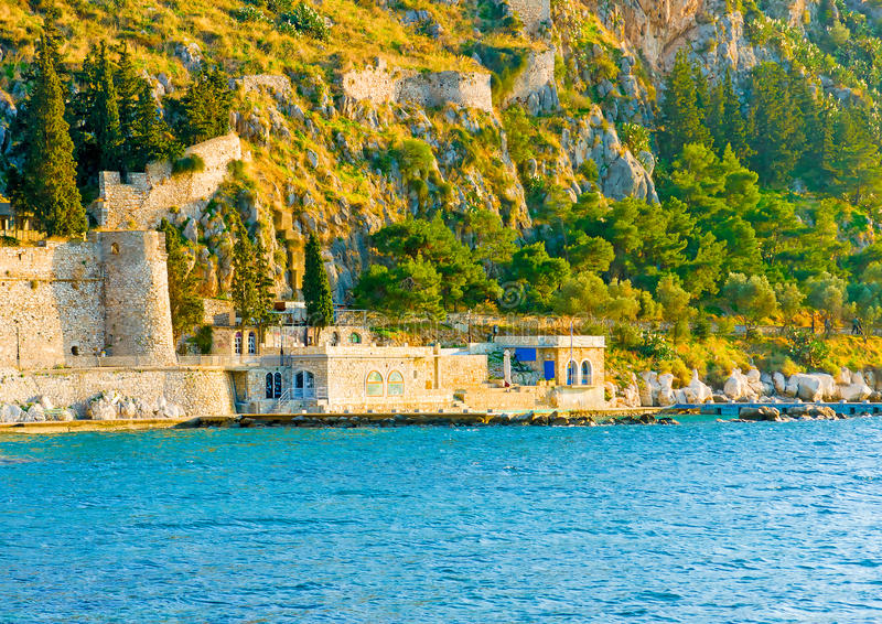 Port av Nafplion arkivbild