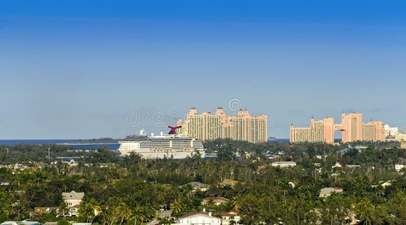 Port av Nassau, Bahamas royaltyfria foton