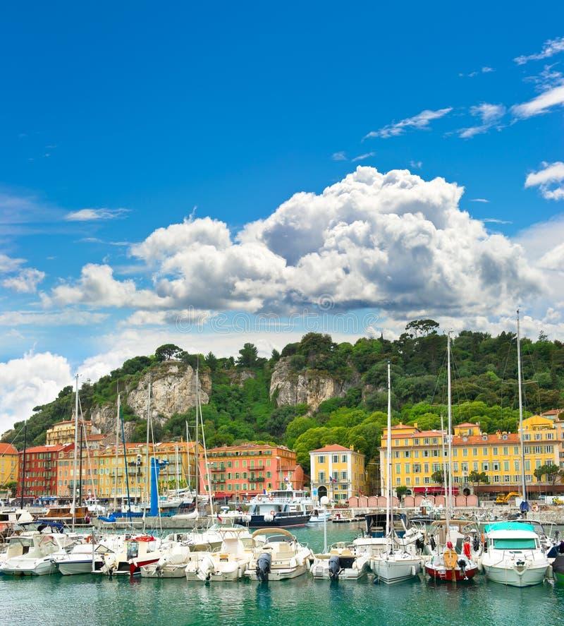 Port av Nice, franska riviera arkivbilder