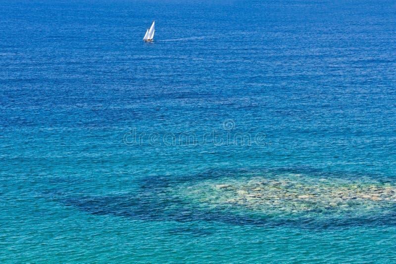 Port av Palinuro, Salerno, Italien fotografering för bildbyråer