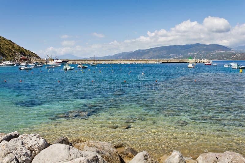 Port av Palinuro, Salerno, Italien royaltyfria bilder