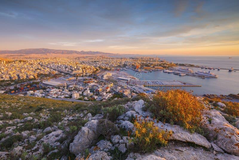 Port av Piraeus, Grekland arkivfoton