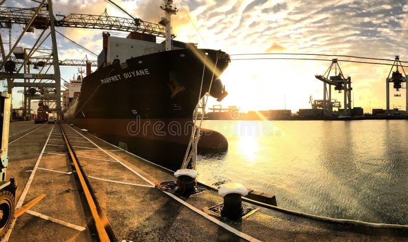 Port av Rotterdam skepp 2 royaltyfri bild