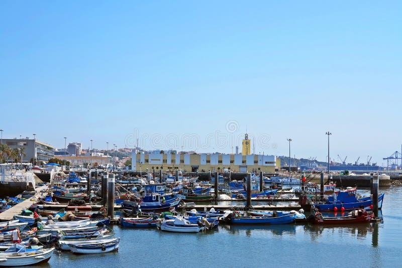 Port av setubal royaltyfria bilder