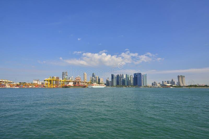 Port av Singapore arkivfoto