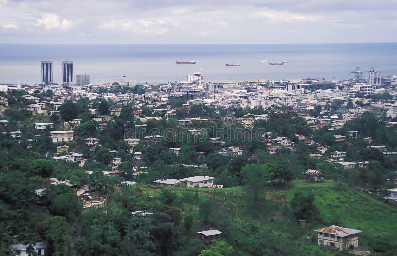 Port - av - Spanien, Trinidad royaltyfria bilder
