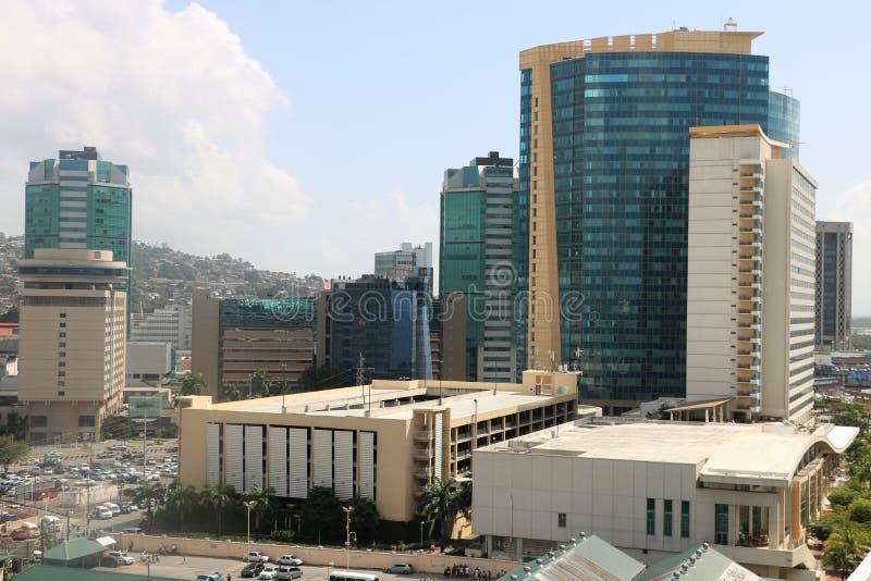 Port - av - Spanien, Trinidad och Tobago royaltyfria foton
