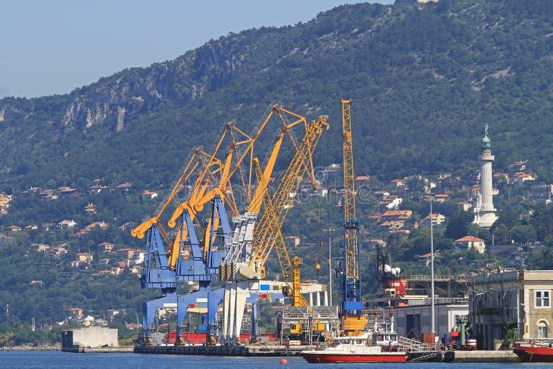Port av Trieste fotografering för bildbyråer