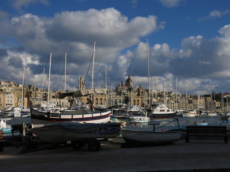 Port av Valletta royaltyfria foton