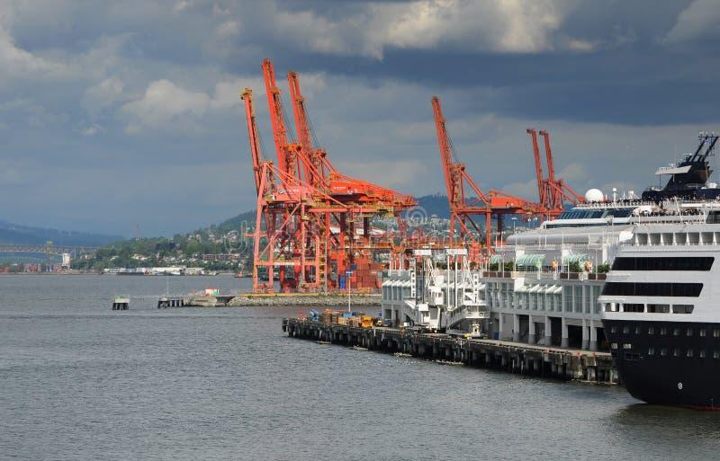 Port av Vancouver royaltyfria foton