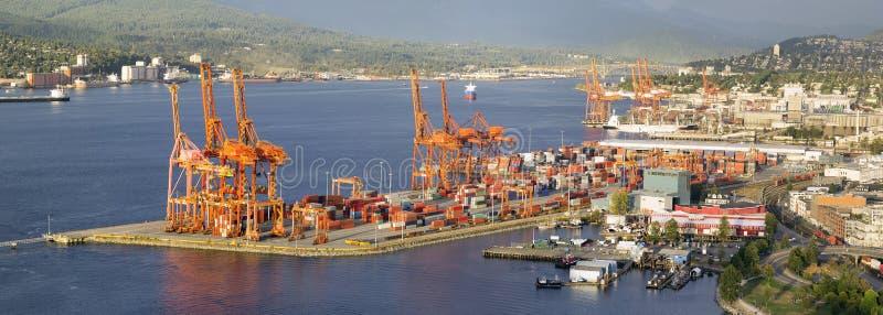 Port av Vancouver panorama royaltyfri foto
