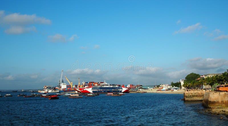 Port av Zanzibar Tanzania royaltyfri bild
