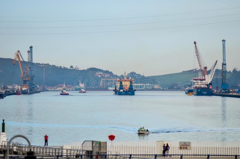 Port Aviles stock images